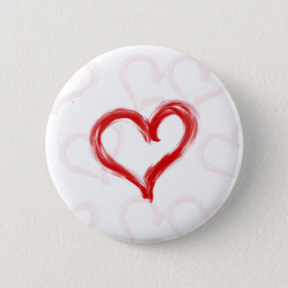 Brush Painted Heart Button