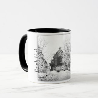 Brush Park Detroit MI. Two tone mug. Mug