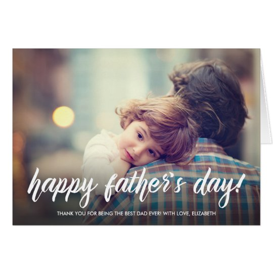 Brush Script Father's Day Card