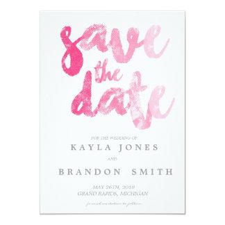 Brush Script - Pink   WEDDINGS 13 Cm X 18 Cm Invitation Card
