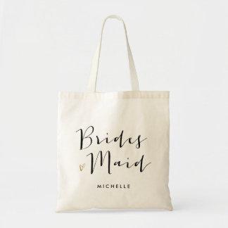 """Brush Script Typography """"Bridesmaid"""""""