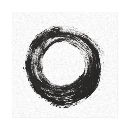 Brush stroke circle texture canvas print
