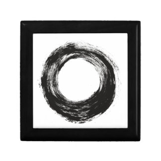 Brush stroke circle texture small square gift box