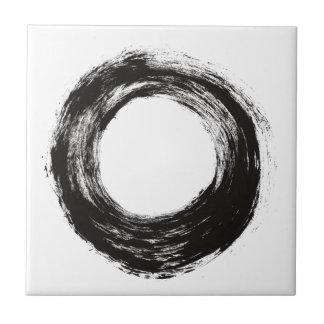 Brush stroke circle texture tile