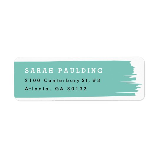 Brush stroke return address label