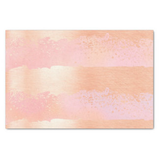 Brush Strokes Rose Gold & Pink Tissue Paper