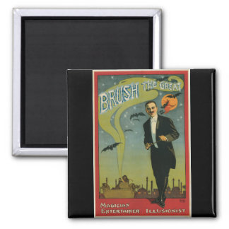 Brush the Great Vintage Magician Magnet
