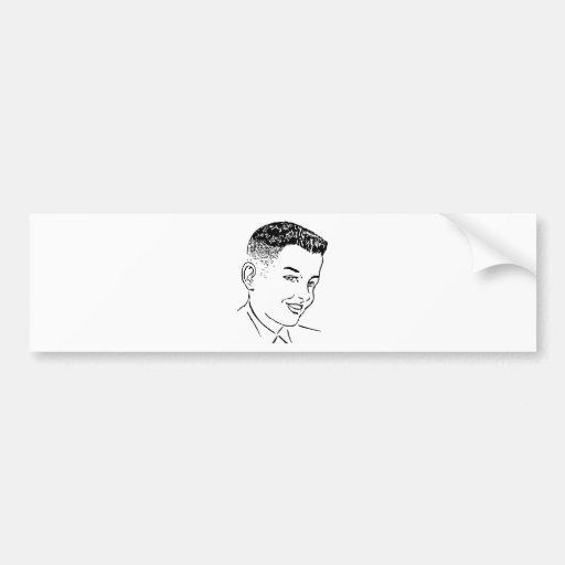 brush top haircut bumper sticker