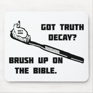 Brush up on the Bible Mouse Mat