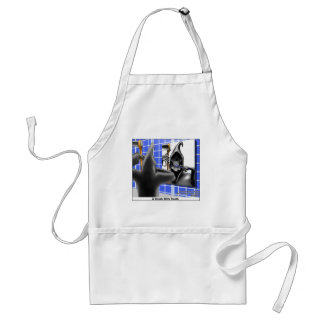 Brush With Death Funny Halloween Cartoon Gifts Aprons