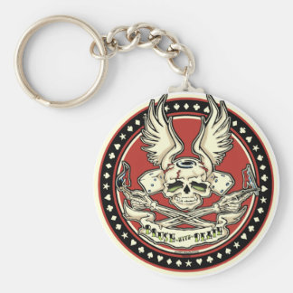 Brush With Death Keychain