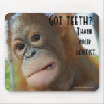 Brush Your Teeth Dentist Humour Mouse Pad