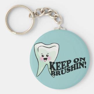 Brush Your Teeth! Key Ring