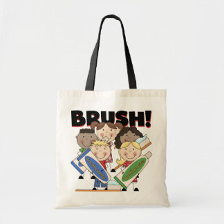 Brush Your Teeth T-shirts and Gifts Budget Tote Bag