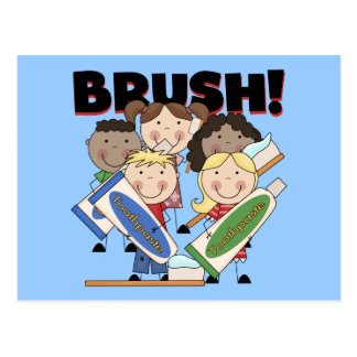 Brush Your Teeth T-shirts and Gifts Post Cards