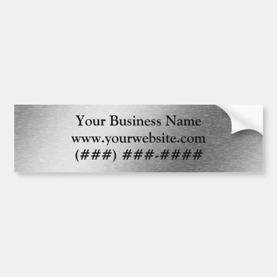 Brushed Aluminium Effect Business Bumper Sticker