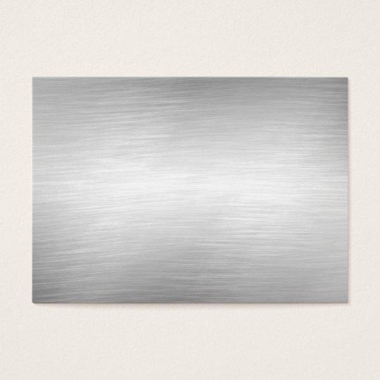 Brushed Aluminium Metal Business Cards