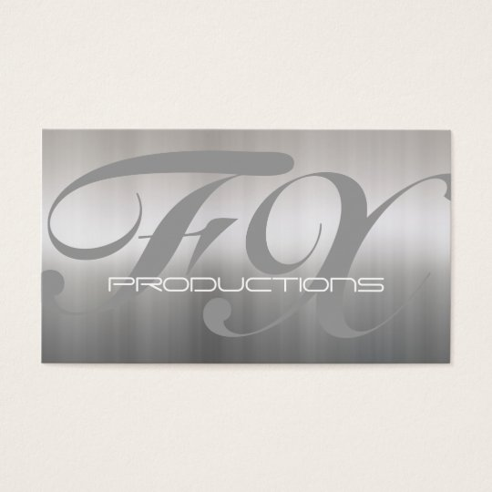 Brushed Aluminium Stainless Steel Textured Business Card