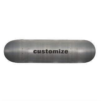 Brushed Aluminum Custom Skateboard