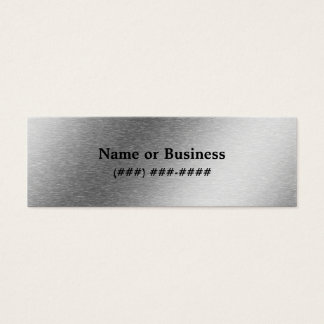 Brushed Aluminum Effect Business Card