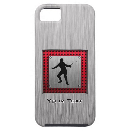 Brushed Aluminum look Fencer iPhone 5 Cases