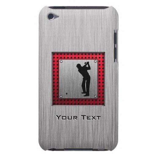 Brushed Aluminum look Golfer iPod Case-Mate Case