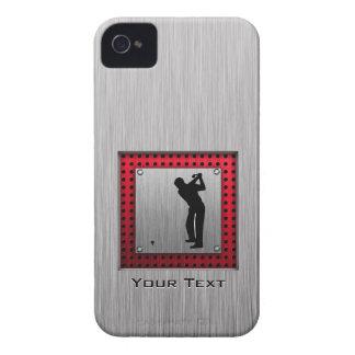 Brushed Aluminum look Golfer iPhone 4 Case-Mate Cases
