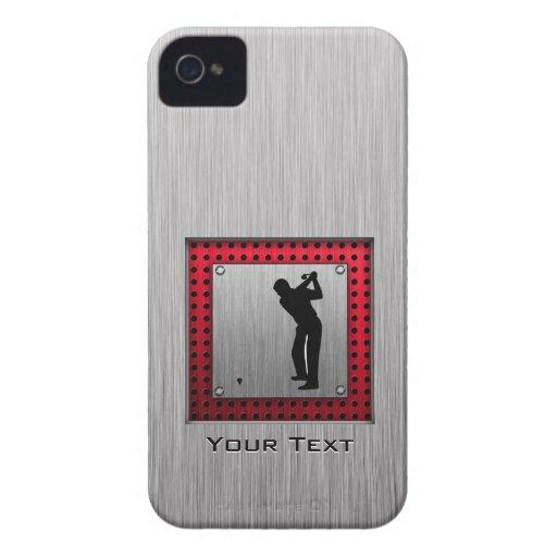Brushed Aluminum look Golfer iPhone 4 Cases