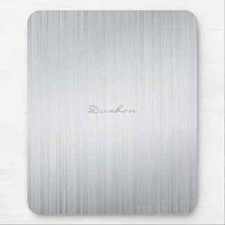 Brushed Aluminum Look Mouse Pad-Custom Name Mouse Mat