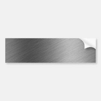 Brushed Aluminum Metal Look Bumper Sticker