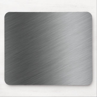 Brushed Aluminum Metal Look Mouse Pad