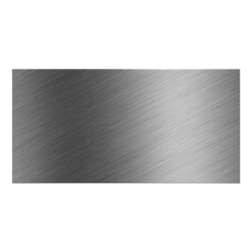 Brushed Aluminum Metal Look Picture Card