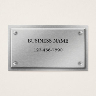 Brushed Aluminum Metal Plate Business Card