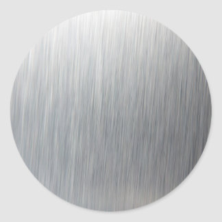 Brushed Aluminum Metal Round Sticker