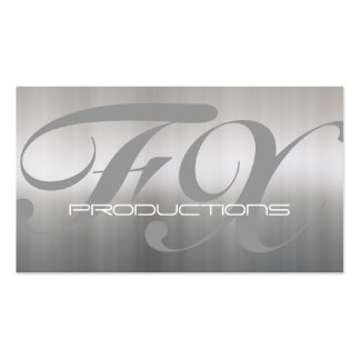 Brushed Aluminum Stainless Steel Textured Business Cards