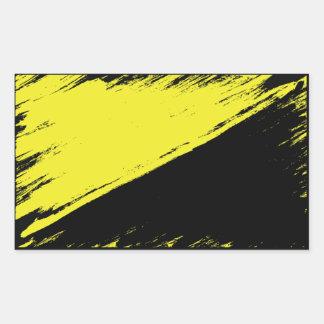 Brushed Anarcho-capitalism Flag Sticker