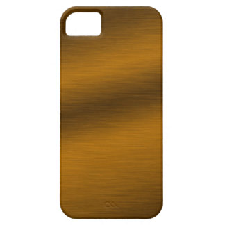 Brushed Bronze Background Barely There iPhone 5 Case