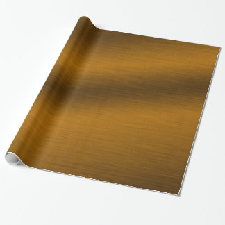 Brushed Bronze Background Wrapping Paper