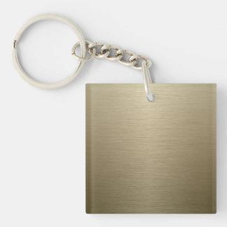 Brushed Bronze Key Ring