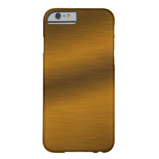 Brushed Bronze Look Artwork Barely There iPhone 6 Case