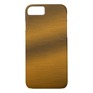 Brushed Bronze Look Artwork iPhone 7 Case