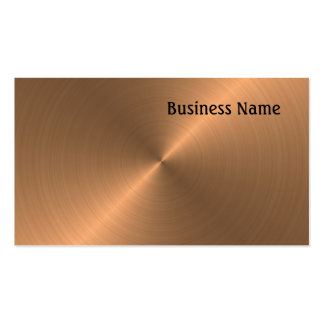 Brushed Copper Pack Of Standard Business Cards
