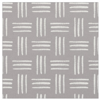 Brushed Crosshatch Patterned Fabric (Gray)
