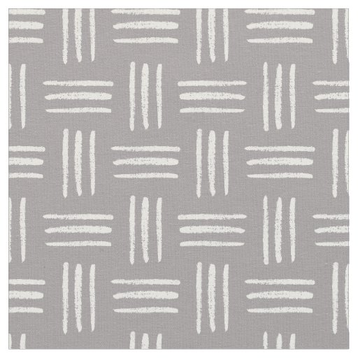 Brushed Crosshatch Patterned Fabric (Grey)