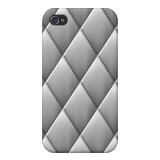 Brushed Diamond Squares iPhone 4/4S Covers