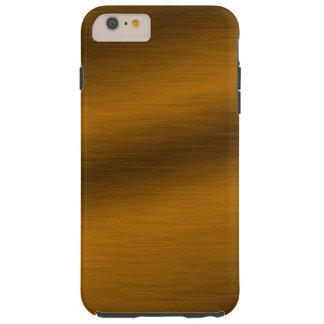 Brushed Faux Bronze Background Tough iPhone 6 Plus Case