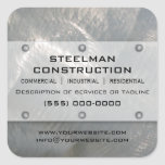 Brushed Faux Silver Metal-Look Promotional