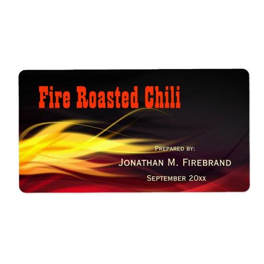 Brushed Flames Chilli or Shop Label