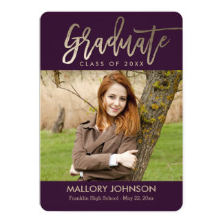 Brushed Glimmer EDITABLE COLOR Graduation Card 13 Cm X 18 Cm Invitation Card