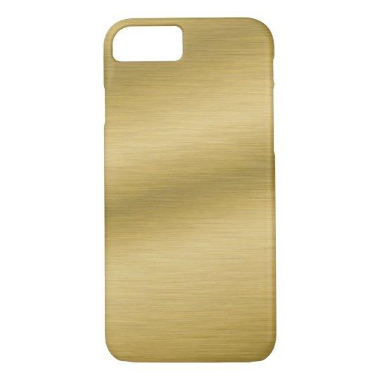 Brushed Gold Look Elegant iPhone 7 Case
